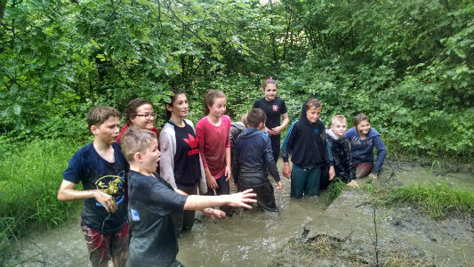 Muddy Assault Course, Clyne Farm