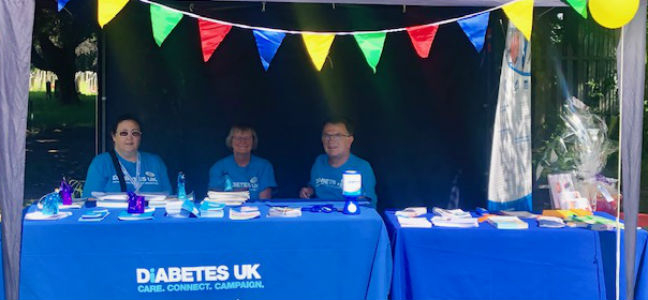 Coventry Diabetes UK Group at Keresley Festival