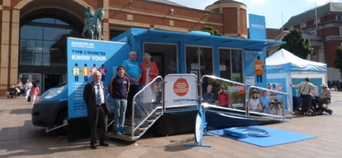 The Diabetes UK Know Your Risk Roadshow rolled into Town