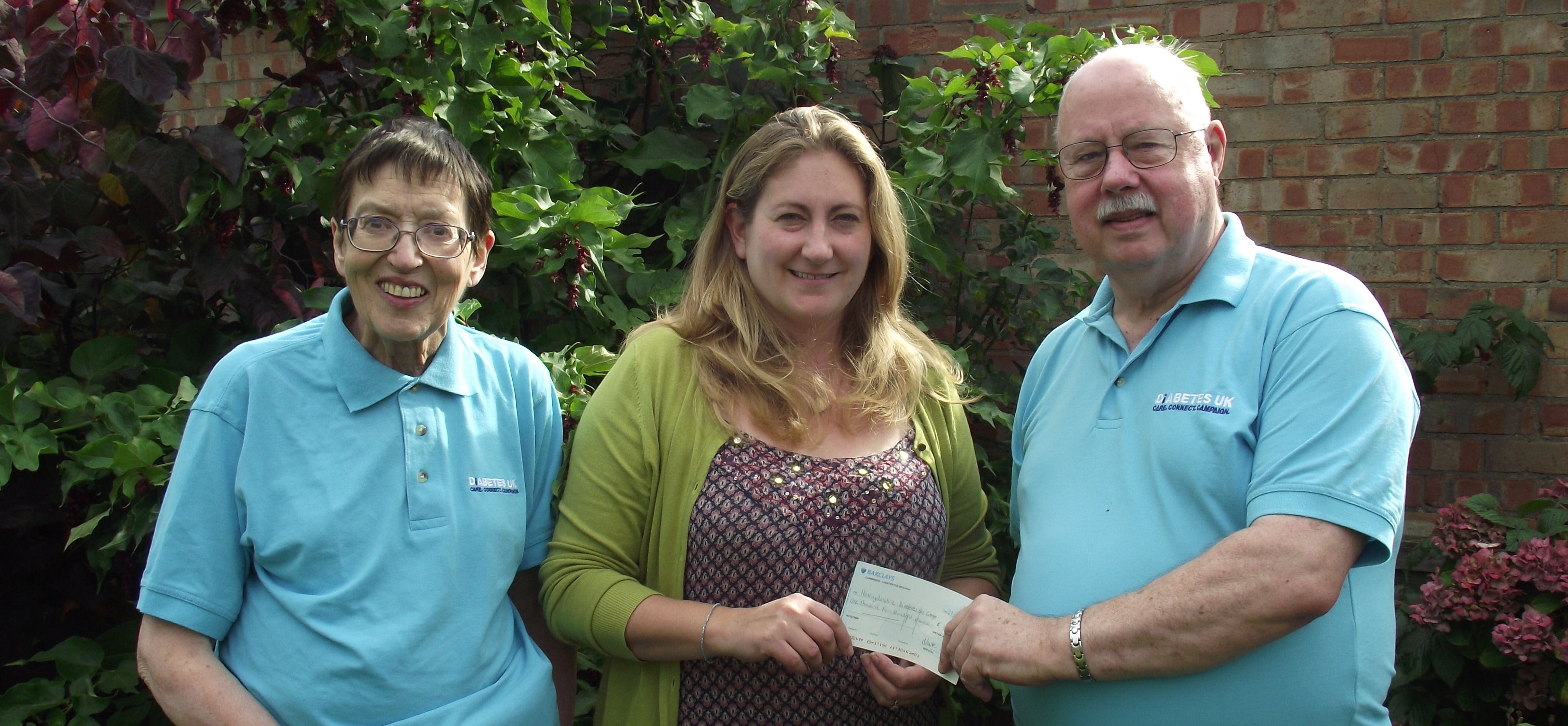 Histon and Impington Open Gardens Donation 2015