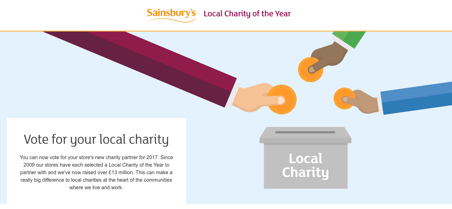 The St Helens & District Group Has Been Nominated for the Sainsbury`s Local Charity of the Year by the Store in Millfields, St H