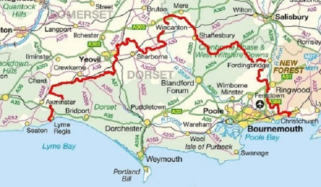 Map Of Uk Dorset.Diabetes Uk Local Groups West Dorset